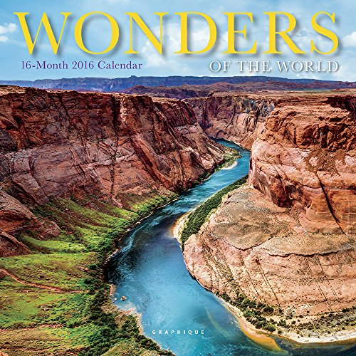 9781477012789: Wonders of the World 2016 Calendar