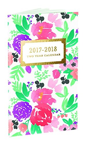 9781477024669: Happy Floral 2017-2018 Planner: 29 Months
