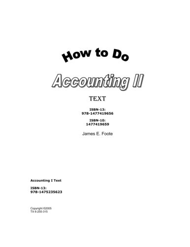 9781477419656: How to Do Accounting II Text