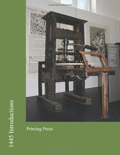 9781477423677: 1445 Introductions: Printing Press