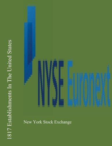 9781477436394: 1817 Establishments In The United States: New York Stock Exchange