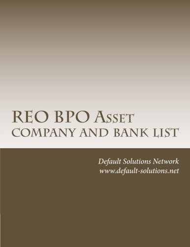 9781477538869: REO BPO List of Asset Companies and Banks