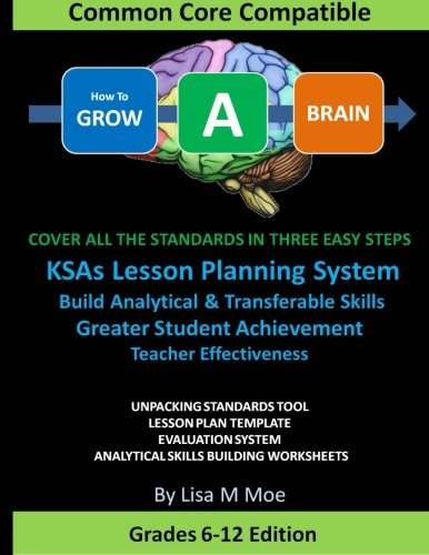 9781477578629: How To GROW A BRAIN: Cover All The Standards In Three Easy Steps, Superior Lesson Planning, Improve Student Performance, Teacher Effectiveness, ... Ready To Use Analytical Skill Builders