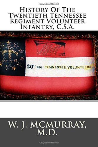 History of the Twentieth Tennessee Regiment Volunteer: McMurray M. D.,