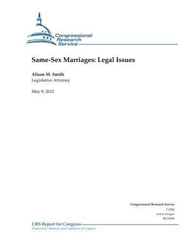 9781477656709: Same-Sex Marriages: Legal Issues