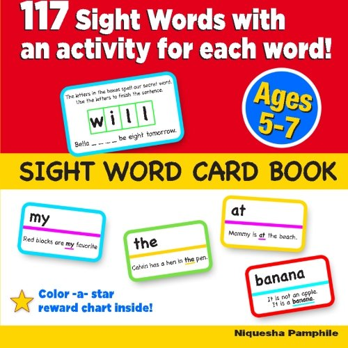 9781477683743: Sight Word Card Book: 117 Sight Words with an activity for each word!