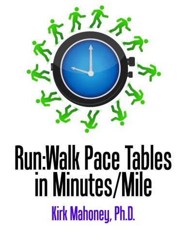 Run:Walk Pace Tables in Minutes/Mile: Mahoney, Dr. Kirk