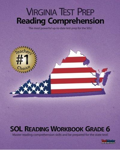 9781478208099: VIRGINIA TEST PREP Reading Comprehension SOL Reading Workbook Grade 6