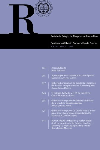 9781478241546: Revista del Colegio de Abogados de Puerto Rico: Centenario Gilberto Concepción de Gracia