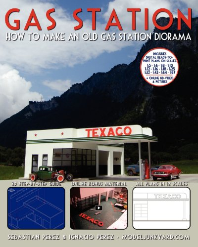 Gas Station: How to make an old gas station diorama: Sebastian Perez
