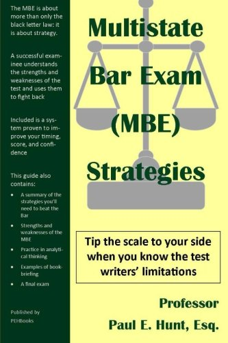 9781478354994: Multistate Bar Exam (MBE) Strategies