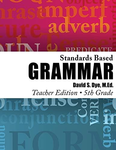 9781478370307: Standards Based Grammar: Grade 5: Teacher's Edition