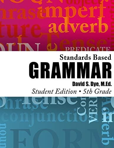 9781478377597: Standards Based Grammar: Grade 5: Student Edition