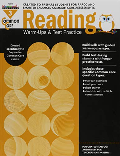 Newmark Learning NL-2263 Common Core Reading Gr 3 Warmups &: Multiple Authors