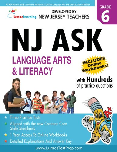 9781479130443: NJ ASK Practice Tests and Online Workbooks: Grade 6 Language Arts and Literacy, Second Edition: 2013 Common Core State Standards Aligned