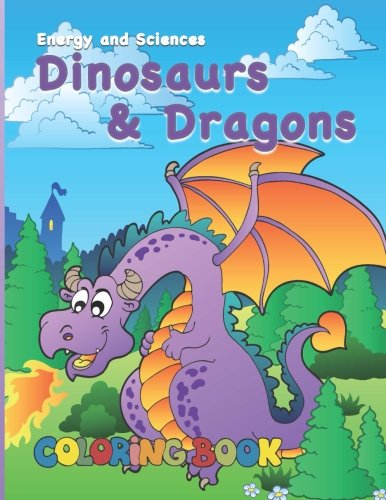 9781479197774: Dinosaurs & Dragons Coloring Book