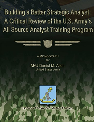 9781479201013: Building a Better Strategic Analyst: A Critical Review of the U.S. Army's All Source Analyst Training Program