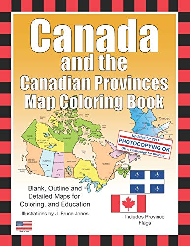 9781479220823: Canada and the Canadian Provinces Map Coloring Book