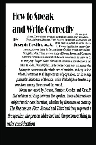 9781479371556: How to Speak and Write Correctly