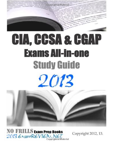 9781479372430: CIA, CCSA & CGAP Exams All-in-one Study Guide 2013