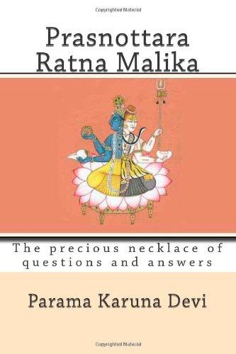 9781480014176: Prasnottara ratna malika: The precious necklace of questions and answers
