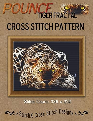 9781480106789: Pounce Tiger Fractal Cross Stitch Pattern