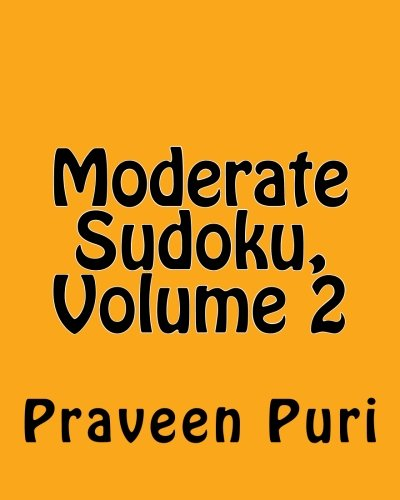 9781480127302: Moderate Sudoku, Volume 2: Easy and Fun Large Grid Sudoku Puzzles