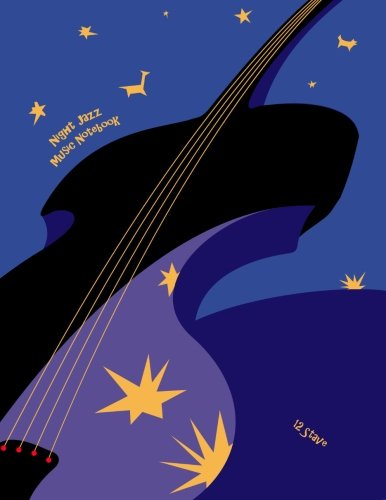 9781480250192: Night Jazz Music Notebook: 12 Stave