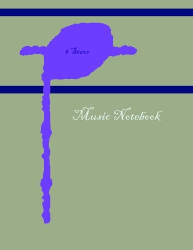 Music Notebook: 8 Stave: Name Works Press