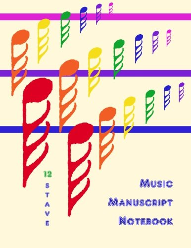 9781480266971: Music Manuscript Notebook: 12 Stave