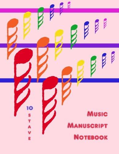 9781480266995: Music Manuscript Notebook: 10 Stave