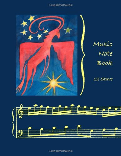 9781480283381: Music Notebook: 12 Stave