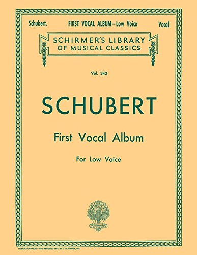 FIRST VOCAL ALBUM LOW VOICE PIANO GERMAN