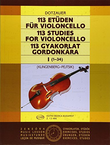 9781480305076: 113 Studies - Volume 1: Cello Solo