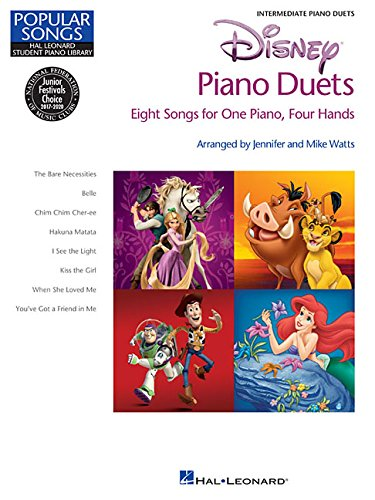 9781480305472: Disney Piano Duets - Popular Songs Series - 8 Duets (1 Piano/4 Hands) Intermediate (Hal Leonard Student Piano Library)