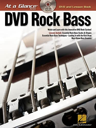 Rock Bass - At A Glance (DVD and Lesson Book) (At a Glance (Hal Leonard)): Hal Leonard Corp.