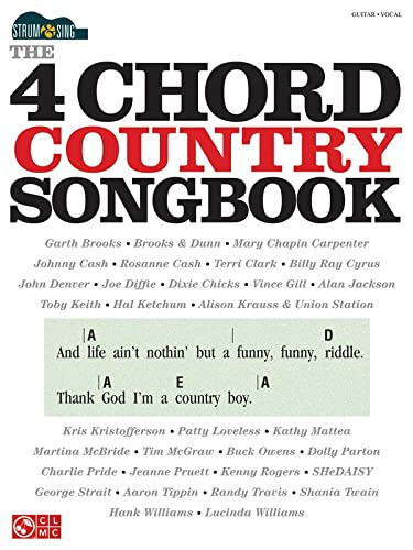 9781480312586: The 4-Chord Country Songbook - Strum & Sing