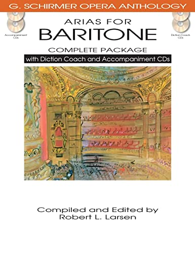 ARIAS FOR BARITONE COMPLETE PACKAGE BOOK/DICTION COACH/ACCOMPANIMENT CDS (G. Schirmer ...
