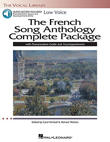 9781480329669: The French Song Anthology Complete Package - Low Voice: Book/Pronunciation Guide/Accompaniment Audio Online The Vocal Library