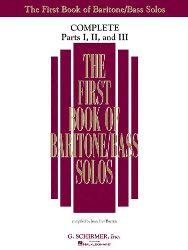 9781480333246: The First Book of Solos Complete - Parts I, II and III: Baritone/Bass