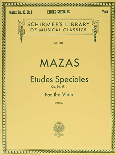 Etudes Speciales, Op. 36 - Book 1: Mogill, Leonard [Editor];
