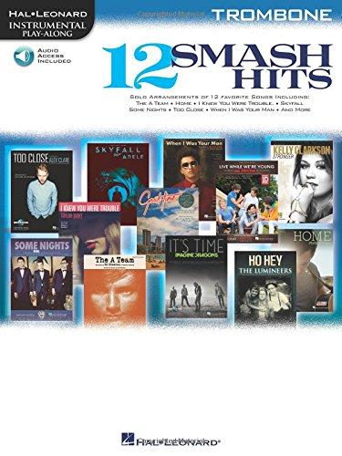 9781480341234: 12 Smash Hits: for Trombone (Hal Leonard Instrumental Play-Along) Bk/online audio