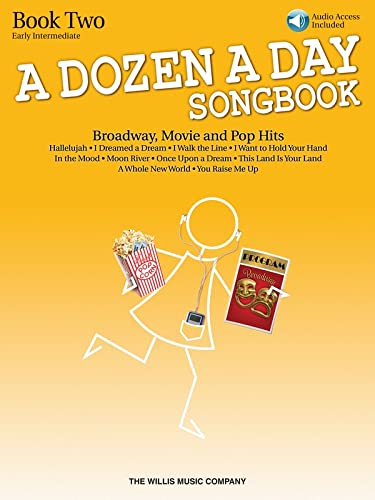 9781480342118: A Dozen A Day Songbook - Book 2: Early Intermediate Level (Book/CD)