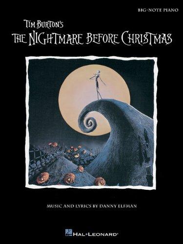 9781480342873: Tim Burton's The Nightmare Before Christmas: Big-Note Piano