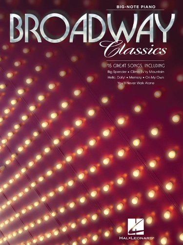9781480344761: Broadway Classics for Big Note Piano