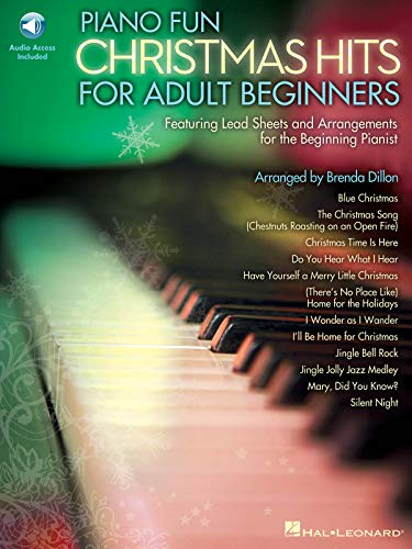 Piano Fun: Christmas Hits for Adult Beginners [With CD (Audio)]: Brenda Dillon