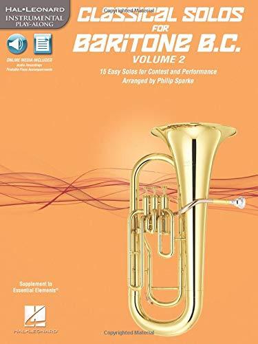 CLASSICAL SOLOS FOR BARITONE BASS CLEF VOL 2 (W/CD-ROM) (Hal Leonard Instrumental Play-along): ...