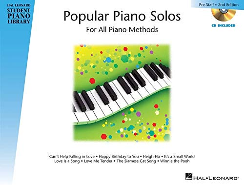 9781480352476: Popular Piano Solos - Prestaff Level: Hal Leonard Student Piano Library Book with Enhanced CD including