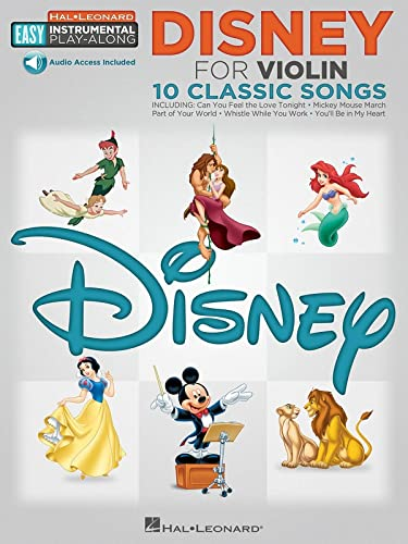 9781480354425: Easy Instrumental Play Along Disney Violin Book With Audio Download (Hal Leonard Easy Instrumental Play-Along) (Includes Online Access Code)
