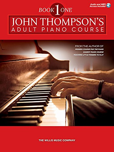 9781480355040: John Thompson's Adult Piano Course - Book 1: Elementary Level Book with Online Audio